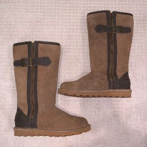 Bear Paw Buckled Boots